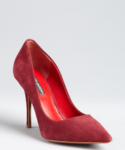 red pointy toe heels
